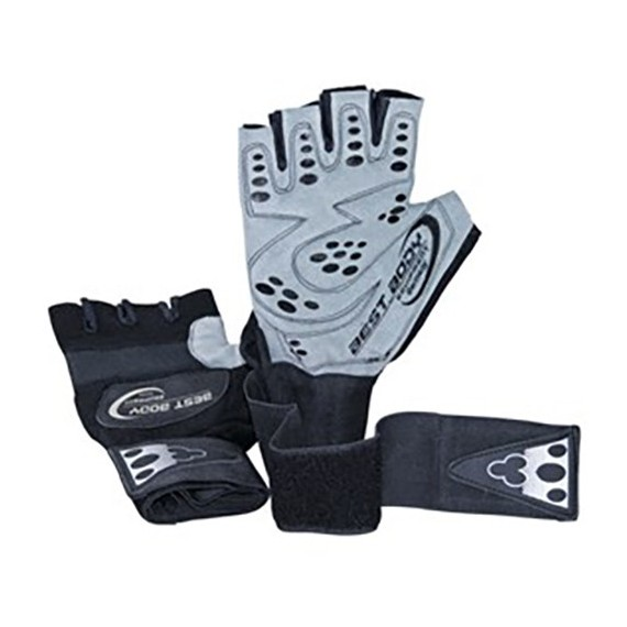 Best Body Handschuhe Top Grip Fitnesshandschuhe mit Bandage
