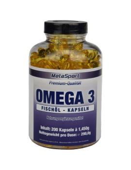 MetaSport - Omega 3, boîte de 200 capsules