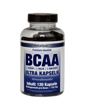 MetaSport - BCAA Ultra, boîte de 120 gélules