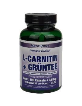 MetaSport - thé vert + L-carnitine, boîte de 100 gélules