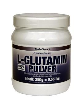 MetaSport - L-glutamine en poudre, boîte de 250 g