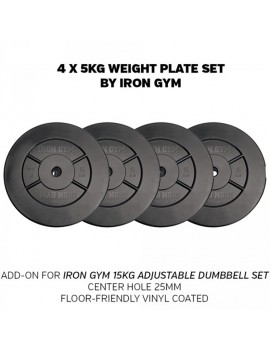 Iron Gym Weight plate set 20kg (4x5kg)