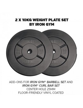 Iron Gym Weight plate set 20kg (2x10kg)
