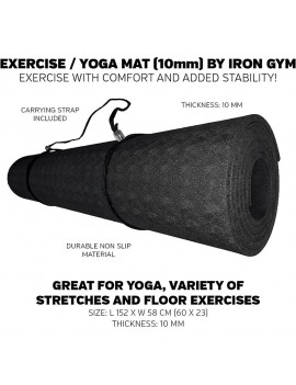 Iron Gym Exercise & Yoga Mat Training mat with shoulder strap