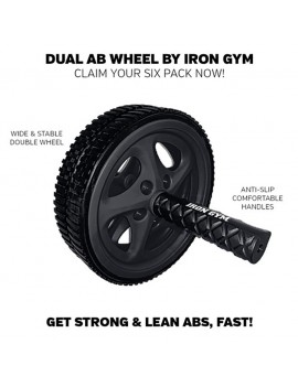 Iron Gym Dual Ab Wheel Abdominal, back, arm and shoulder muscles trainer