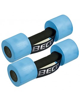BECO Aqua dumbbell, blue size S, M or L Aqua fitness device water sports made of PE foam