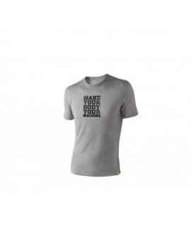 "TRX Männer T-Shirt Grau ""Make Your Body Your Machine"""